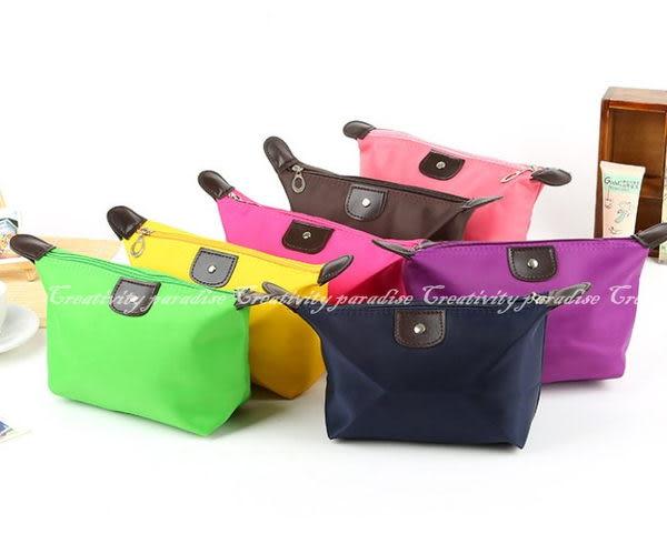 【餃子包】韓系水餃造型化妝袋收納包水餃包手拿包化妝包