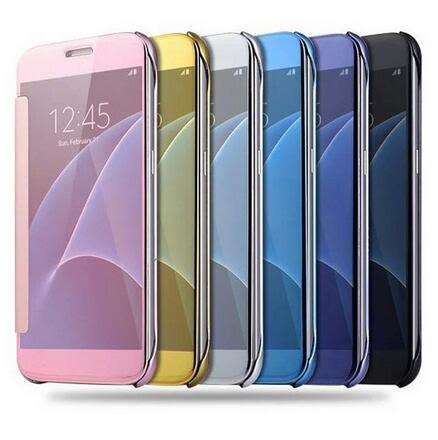 【SZ34】三星Note8手機殼 鏡面翻蓋保護套 智能休眠奢華電鍍 note8手機皮套