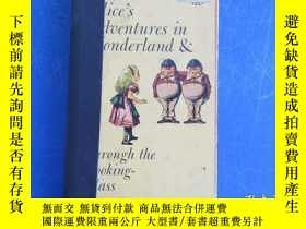 二手書博民逛書店ALICE`S罕見ADVENTURES IN WONDERLAND AND THROUGH THE LOOKING