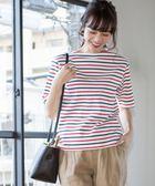 多彩橫條紋T恤【coen】