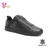 ROYAL ELASTICS 成人男款 Icon Manhood 真皮時尚運動休閒鞋 H9285#黑色◆OSOME奧森鞋業