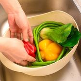 淘米器洗米篩漏塑料淘米盆籃廚房用品瀝水籃洗菜籃子洗菜盆水果盤 艾尚旗艦店