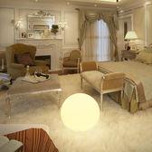 北歐INS落地燈客廳簡約現代宜家臥室網紅LED床頭遙控充電圓球台燈