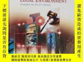 二手書博民逛書店英文原版罕見Managers and the Legal Environment: Strategies for