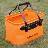 汽車車載洗車水桶便攜式折疊水桶 伸縮桶汽車戶外桶可折疊14L-享家