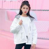 新款2018春裝韓版寬鬆學院風衣外套女連帽學生工裝外套百搭春秋潮 鹿角巷