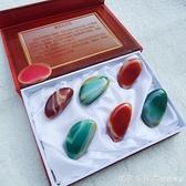 南京雨花石禮盒裝瑪瑙石天然原石精品商務會議禮品包裝送女友包郵 美眉新品