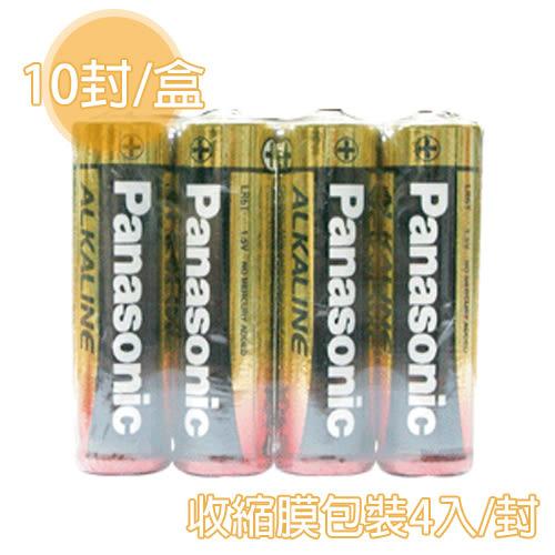 [奇奇文具] 【國際牌 PANAOSNIC 鹼性電池】 3號 AA  鹼性電池 收縮膜4入/封 (10封/盒)