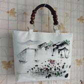 手繪水墨中國風民族風錢包女包定制圖案【99狂歡購物節】