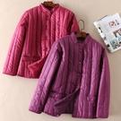 鋪棉壓條短版保暖外套-中大尺碼 獨具衣格 J3425