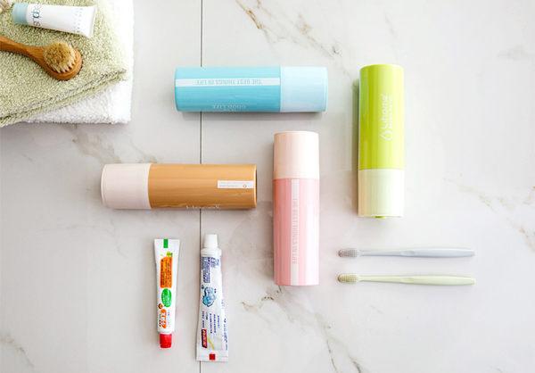 Qmishop 電池造型牙刷盒創意簡約刷牙牙具盒【J502】