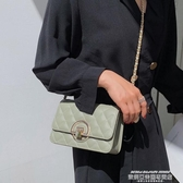 小方包上新小包包女包2020新款潮時尚流行斜背包chic鍊條側背小方包 萊俐亞