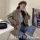西裝外套 秋裝2020新款韓版小個子百搭設計感小眾格子西裝外套女裝長袖上衣 618購物節