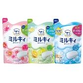 日本牛乳石鹼 COW 牛乳精華沐浴乳400ml 補充包 柚子果香/玫瑰花香/清新皂香