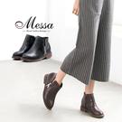 【Messa米莎專櫃女鞋】簡約V口剪裁側...