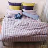 《40支》雙人加大床包薄被套枕套四件組【藍色多瑙河】-麗塔LITA-