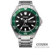 CITIZEN 星辰 機械錶 鈦金屬 水鬼NY0071-81E 綠/43.5mm