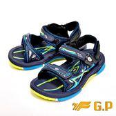 【G.P】可拆式磁扣兩用涼鞋 童鞋-淺藍(另有綠)