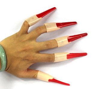 萬聖節活動道具 魔鬼指甲 鬼指甲 10個裝