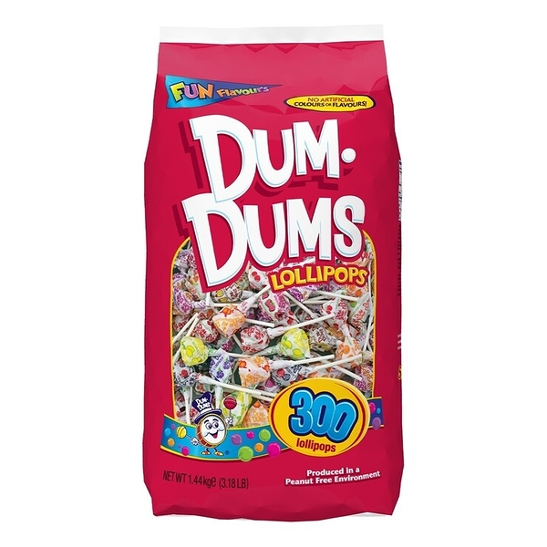 Dum Dums 綜合口味立袋棒棒糖 300入 / 1.44公斤