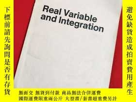 二手書博民逛書店Real罕見Variableand Integration實變數