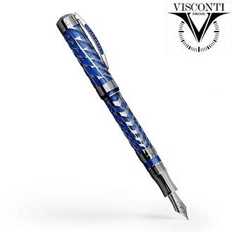 義大利 VISCONTI  限量 Watermark 蔚藍月球 鋼筆 /支 KP20-03-FP