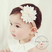 髮帶 韓版 寶寶 花朵 針織花朵 造型 髮飾 BW