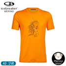 【Icebreaker 男 Tech Lite圓領短袖T-shirt AD150豪豬弓箭《暖黃》】105088/快乾機能服/排汗