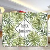 屏風隔斷客廳簡約現代臥室辦公室移動折屏時尚布藝簡易實木玄關『夢娜麗莎精品館』yxs