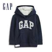 Gap男幼童 Logo棉質連帽休閒上衣 567929-藏青色