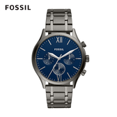 FOSSIL Fenmore Midsize 羅馬數字不銹鋼手錶 44mm BQ2401