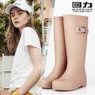 長筒雨靴 回力女式雨鞋女士成人時尚防水鞋高筒水靴子雨靴加絨保暖韓國膠鞋 小宅女