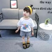 網紅寶寶短袖T恤上衣 夏季純棉兒童半袖薄時髦女童夏裝打底衫 鉅惠85折