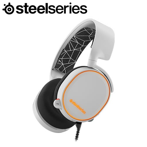 SteelSeries 賽睿 Arctis 5 耳機麥克風 白