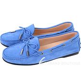 TOD'S City Gommino 綁帶膠底豆豆休閒鞋(女鞋/藍色) 1720118-23