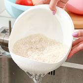 創意家用廚房洗米篩淘米盆洗米器塑料瀝水洗菜籃洗水果籃洗菜筐 艾尚旗艦店
