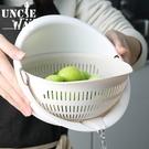 旋轉瀝水盆【H0342】雙層旋轉蔬果瀝水籃 洗米器 洗菜籃 洗水果籃 淘米 洗米盆 瀝水盆 蔬果盆