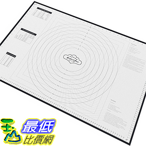 [美國直購] BakeitFun B01AL4KE0U 矽膠墊 烤墊 XX-Large Silicone Pastry Mat With Measurements 33.5 x 22.5 -40°C - 230°C