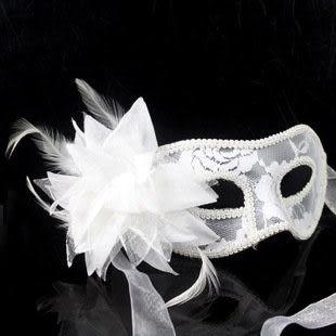 舞會半透明百合花面具