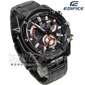 EDIFICE EFR-559DC-1A 粗曠螺絲復古計時男錶 不銹鋼錶帶 IP黑電鍍x玫瑰金 EFR-559DC-1AVUDF CASIO卡西歐