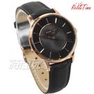 RELAX TIME Classic 經典系列 立體波紋簡約俐落女錶 真皮手錶 防水手錶 玫瑰金X黑 RT-88-5L