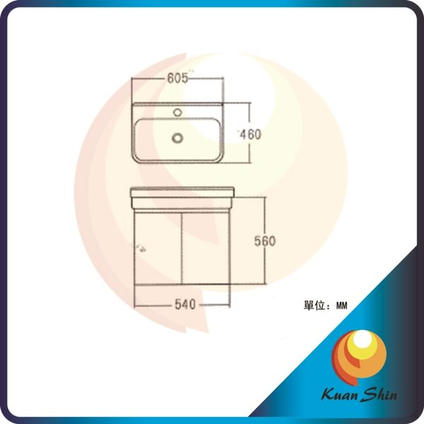 KARNS卡尼斯 浴室櫃 AR-6066A(不含龍頭) -限台中地區