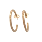 Tiffany & Co 蒂芬妮 18黃K金不規則表面圓圈針式耳環 【BRAND OFF】