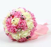 結婚手捧花婚慶韓式新娘仿真手捧花中式伴娘歐式森系用品婚禮花束洛麗的雜貨鋪