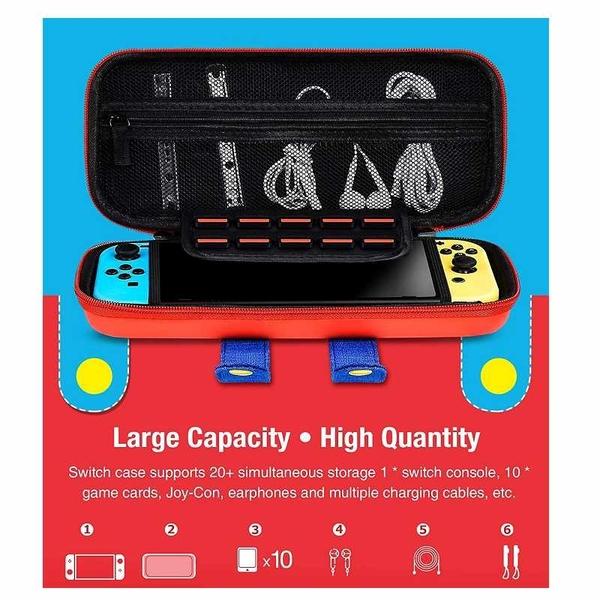 BEBONCOOL 保護殼 放置Nintendo Switch或Switch Lite Joy-Con 10張遊戲卡 [2美國直購]