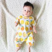 嬰兒連體衣服夏季寶寶夏裝短袖平角哈衣3個月