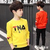 新款韓版男童衛衣新款大尺碼兒童中大童長袖t恤上衣男孩打底衫潮 js9559『miss洛羽』