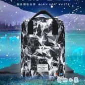 手提後背包休閒韓版簡約電腦背包旅行包書包【奇趣小屋】