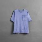 Queen Shop【01038582】圓領刷色單口袋洗水TEE 兩色售 1/2/3/4*現+預*