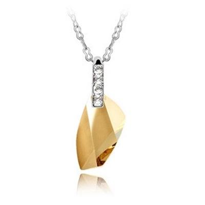 925純銀項鍊 水晶墜飾-鑲鑽璀璨短款生日母親節禮物女飾品6色73aj38【巴黎精品】